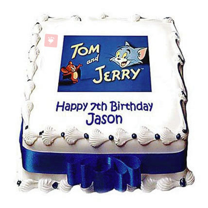 Prime Buy Tom And Jerry Cake Online At Best Price Od Birthday Cards Printable Trancafe Filternl