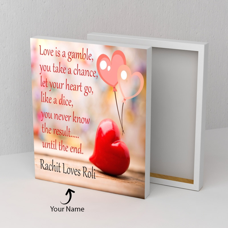 Love Quotation Canvas Personalized