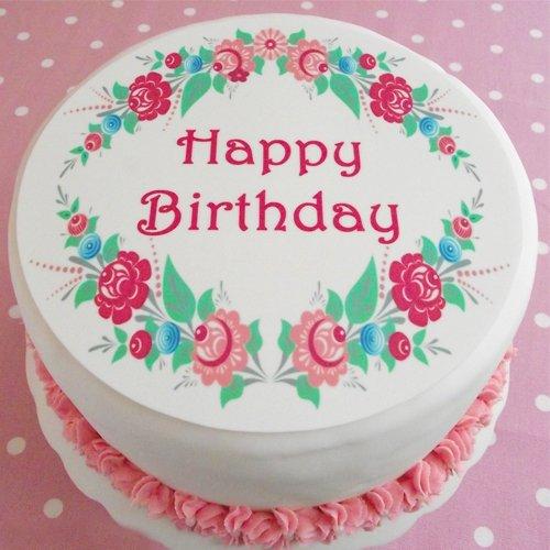 Fabulous Buy Birthday Flower Cake Online At Best Price Od Funny Birthday Cards Online Barepcheapnameinfo
