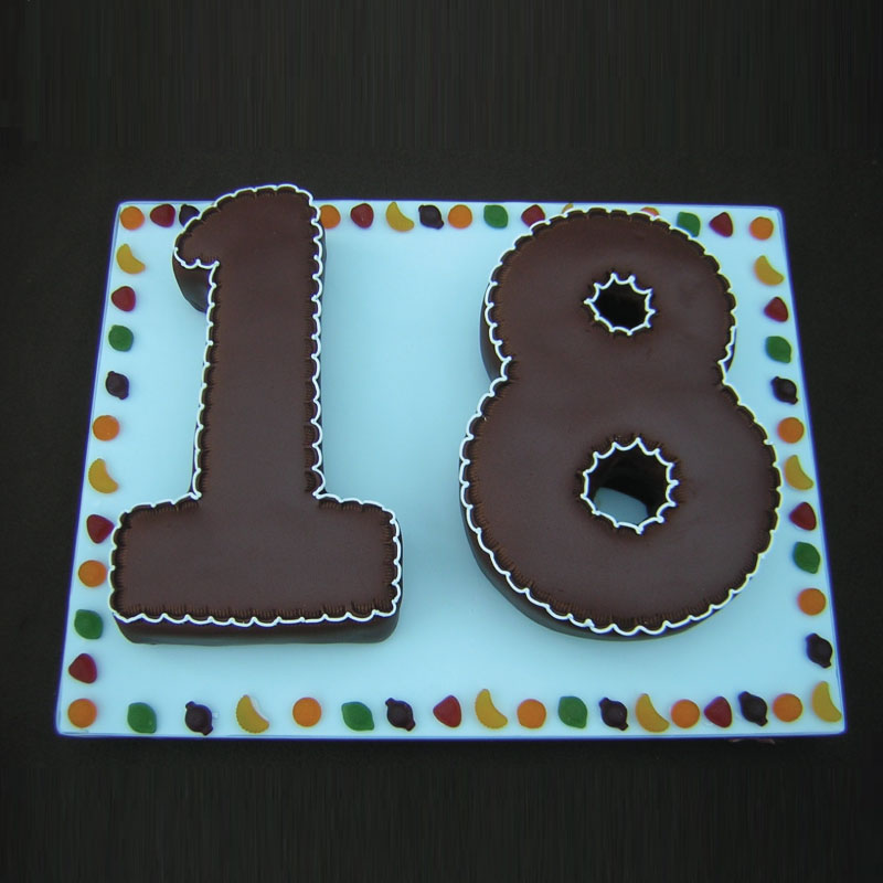 Astounding Buy Double Number Shape Cake Online At Best Price Od Personalised Birthday Cards Veneteletsinfo