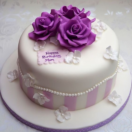 Enjoyable Buy Purple Birthday Cake Online At Best Price Od Personalised Birthday Cards Rectzonderlifede