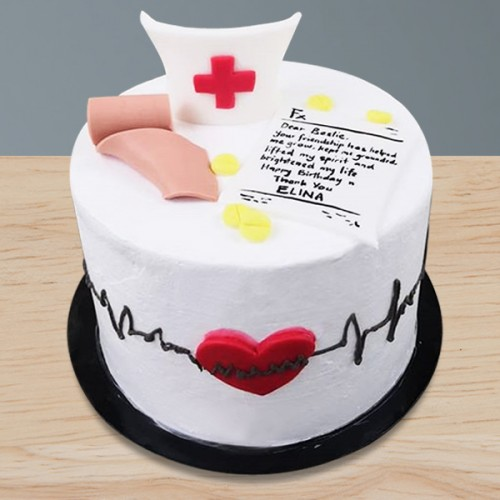 Phenomenal Cakes By Type Eggless Cakes Doctor Medical Cake Birthday Cards Printable Trancafe Filternl