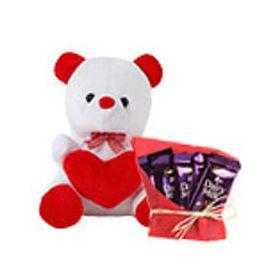 5 dairy milk chocolates with 6 inch teddy bear