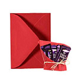5 dairy milk chocolates with greeting card as per occasion