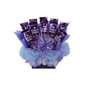 Basket of 10 Cadburry Dairymilk chocolates of 20 grams each