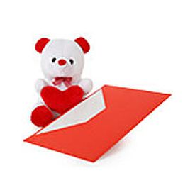 6 inch Teady Bear with Greeting card as per occasion