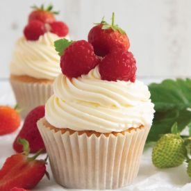 Summer fruit cupcake