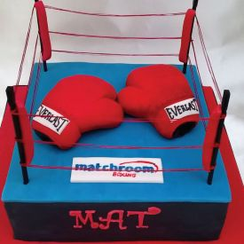 Square Shape Boxing Cake