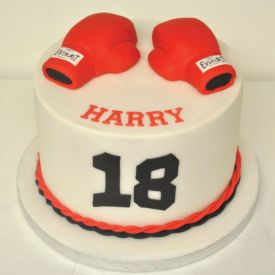 Boxing Birthday cake