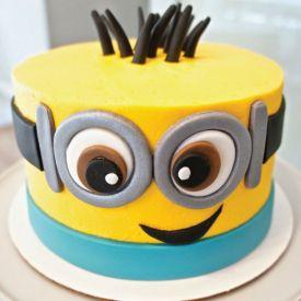 minions cream cake
