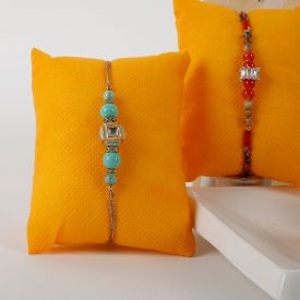 2 Rakhis that are intricate and beautiful