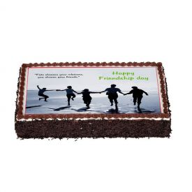 Friendship day chocolate truffle photo Cake