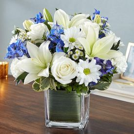 White Mixed Flower In Vase