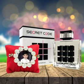 Secret Code Perfume with Personalized Rakhi