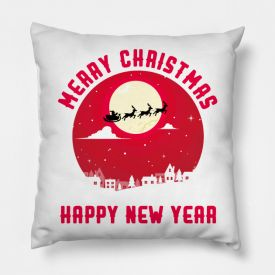 Happy new year cushion cover