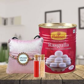 Personalized Rakhi With Rasgulla