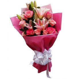 Mixed Pink Flower Bunch