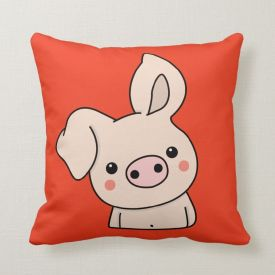Happy New Year Pig Throw Cushion