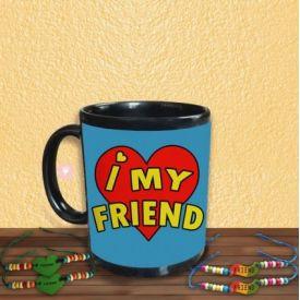 I Love My Friend Mug with Friendship Band