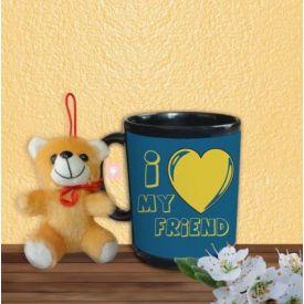 I Love my Friend Mug with small Teddy