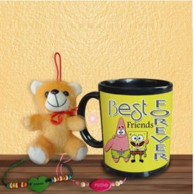 Friend forever Mug with friendship Band and Teddy