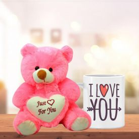 Love You Mug with Teddy