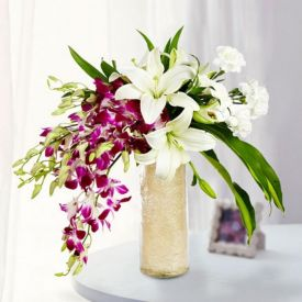 Lilies With orchids