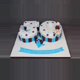 Black N White Fondant Cake