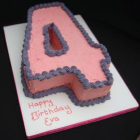 Delicious Number Shape Cake