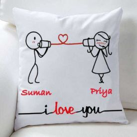 I love you Personalized cushion with filler
