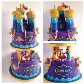 Alladin and Jasmine Castle Cake