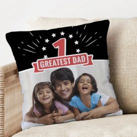 Greatest dad personalized cushion
