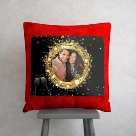 Wreath of Love New Year Personalized Cushion cover