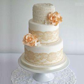 Pearls Wedding Anniversary Cake