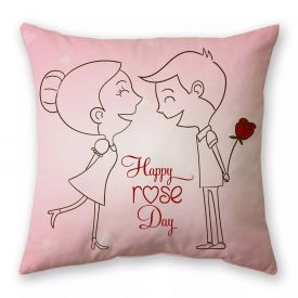 Rose day cushion