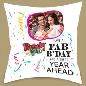 New Year & Birthday Personalized Cushion