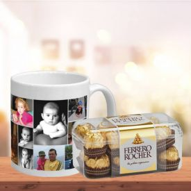 Personalised Mug and Ferrero Rocher Combo