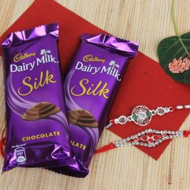2 Dairy Milk Silk With 2 Rakhis