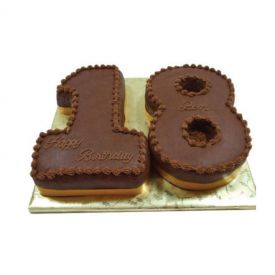 Number Shape Chocolate Cake