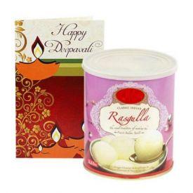 Rasgulla With Greeting Card