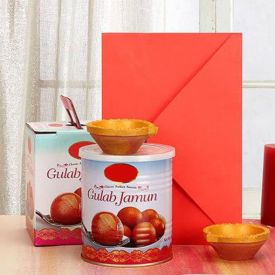 Gulab Jamun With Greeting card