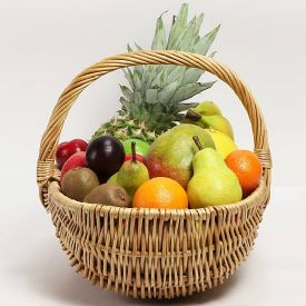 5 Kg Mixed Fruits with Basket