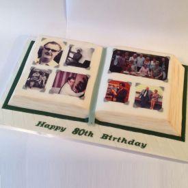 Book Design Cake