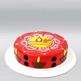 Diwali Fondant Cake