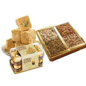 Papdi With Rocher and Dry Fruits