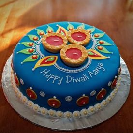 Royal N Flashy Diwali Cake