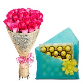 Lovely Chocolates With Flowers Arrangements