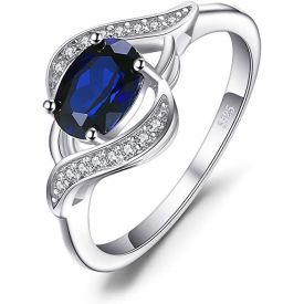Created Blue Sapphire Statement Ring