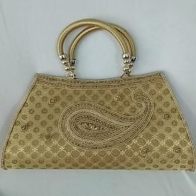 Golden bag for lady