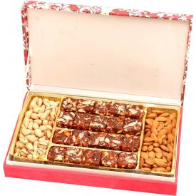 Doda Burfi, Almonds and Pistachios